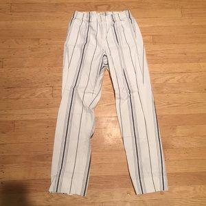 Brandy Melville vertically striped pants